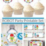 Robot Birthday Party Printables