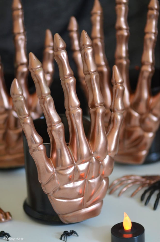 Copper-Skeleteon-Candle-Holders-for-Halloween