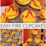 Easy Fire Cupcakes