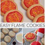 Easy Flame Cookies