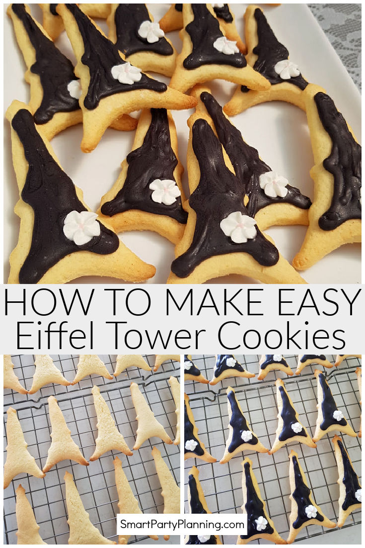 How to make easy Eiffel tower cookies