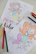Mermaid Coloring Pages For Kids Free