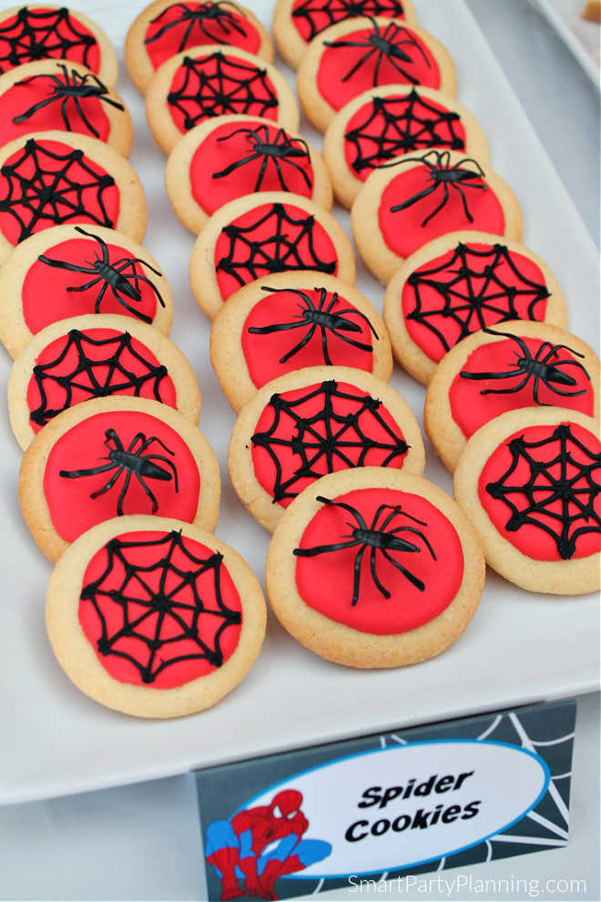 Plate of Spider Cookies