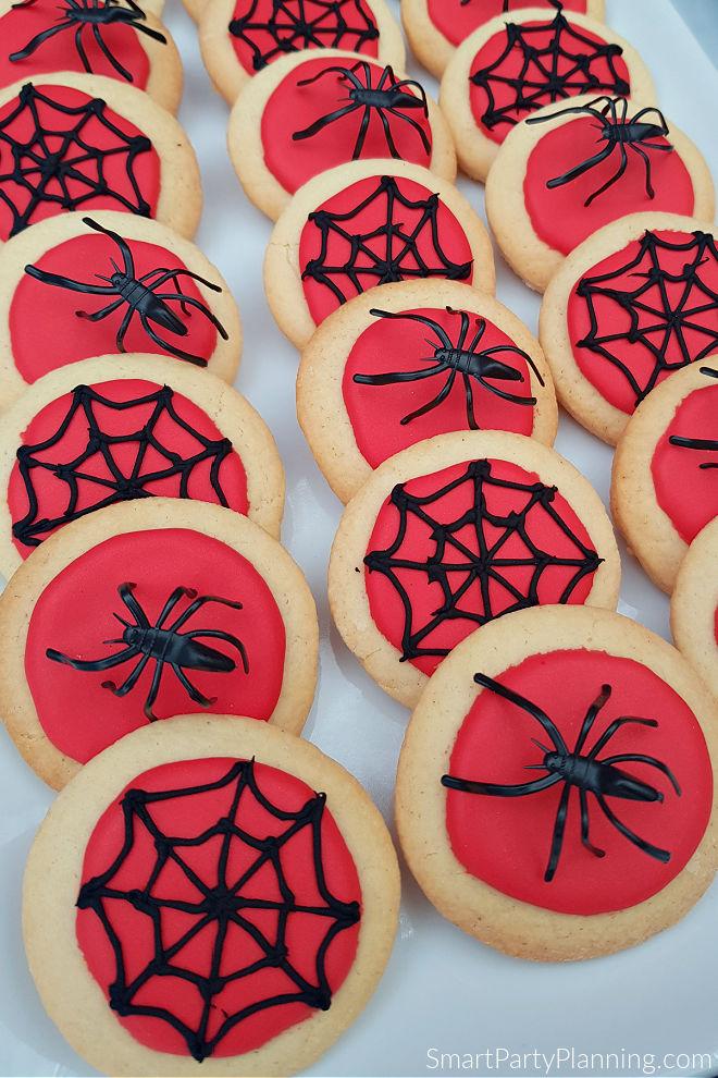 Plate of Spiderman cookies