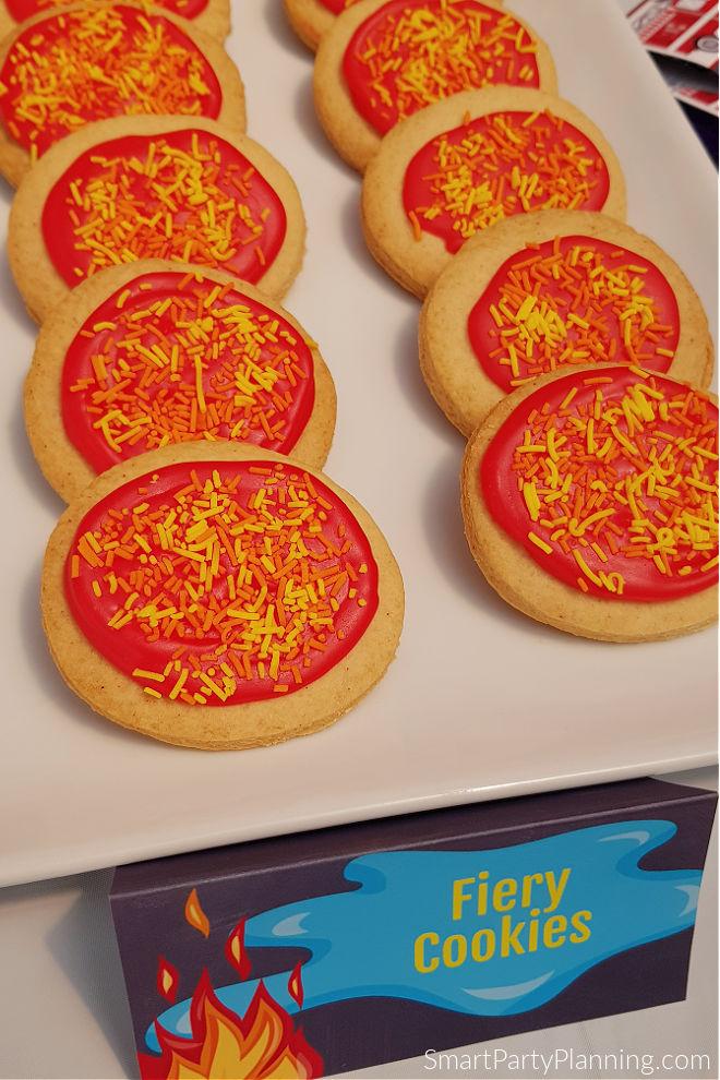 Plate of flame cookies