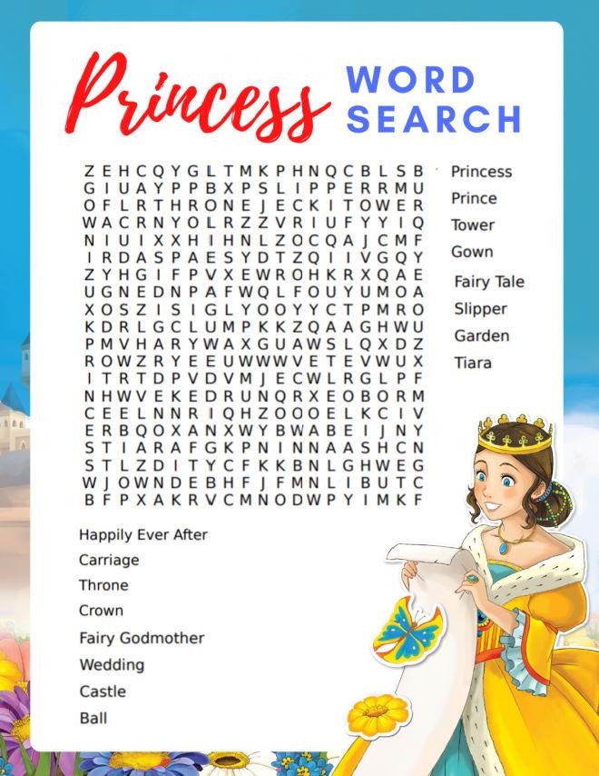Princess-Word-Search