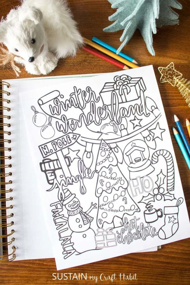 winter wonderland coloring page