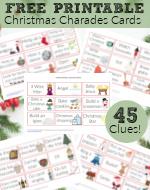 45 Christmas Charades Clues