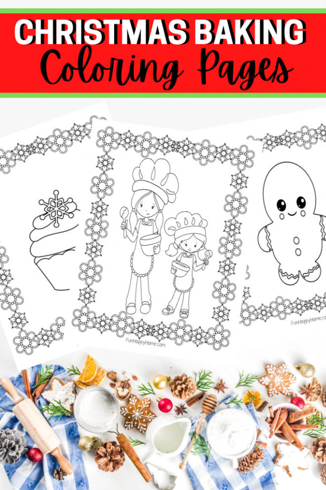 Christmas Baking Coloring Pages