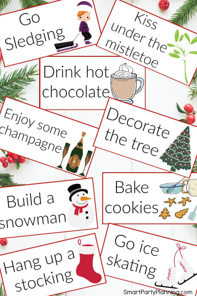 Christmas Charade Cards